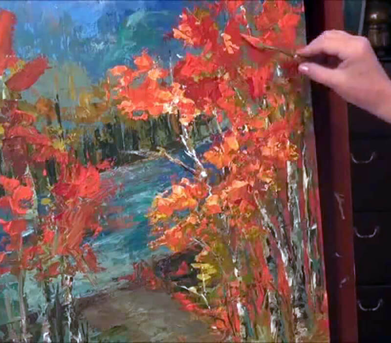 Palette knife examples